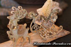 рождественские сани с оленями(2)
