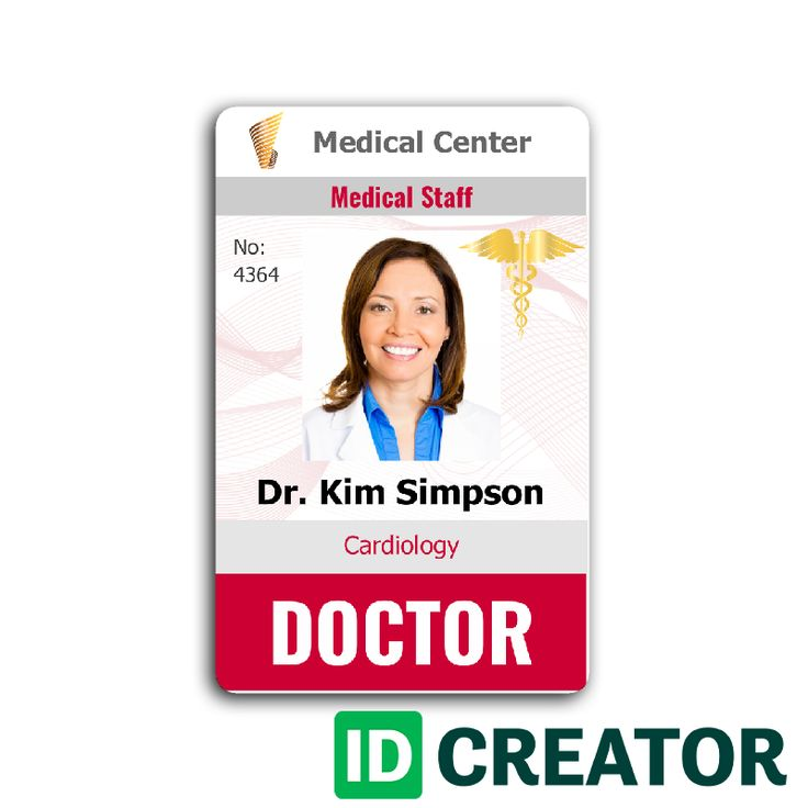 Doctor ID Card #4 | Id card template, Employee id card ...