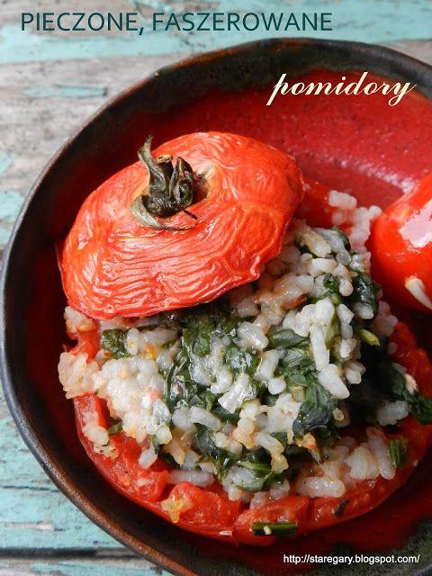 Stare Gary: Pieczone, faszerowane pomidory