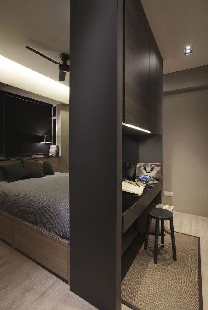 7 Layout Configurations For A Small Bto Master Bedroom Wardrobe Design Bedroom Master Bedrooms Decor Interior Design Companies