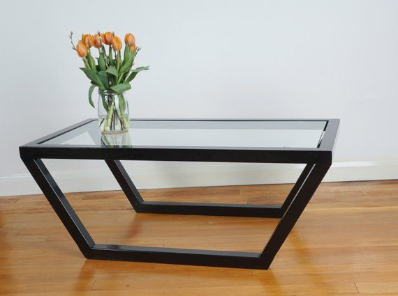 Contemporary Glass Steel Coffee Table Steel Coffee Table