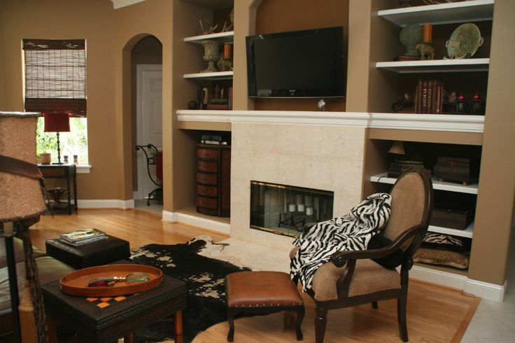 Which paint color goes with brown furniture paint color - Black and brown living room furniture ...