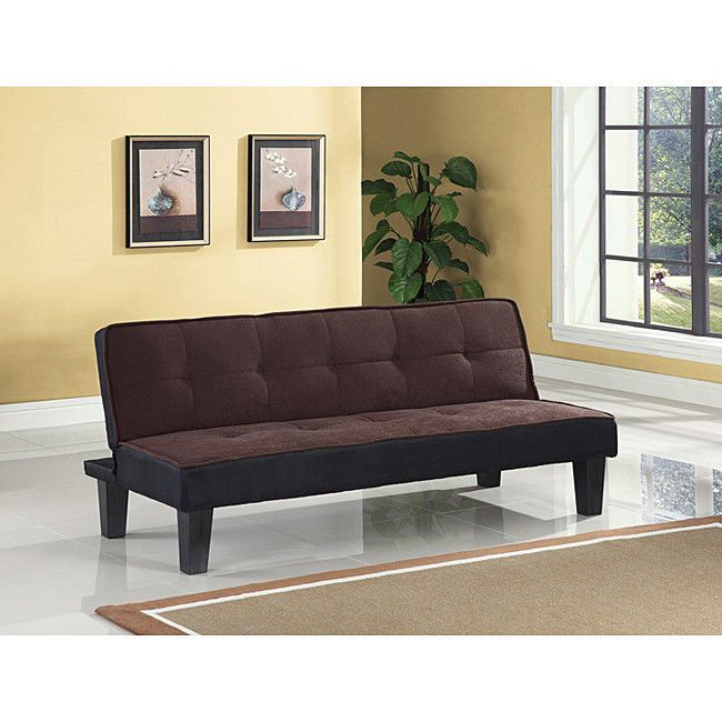 Modern Chocolate Finish Adjule Sleeper Sofa Bed Futon Living Room Furniture