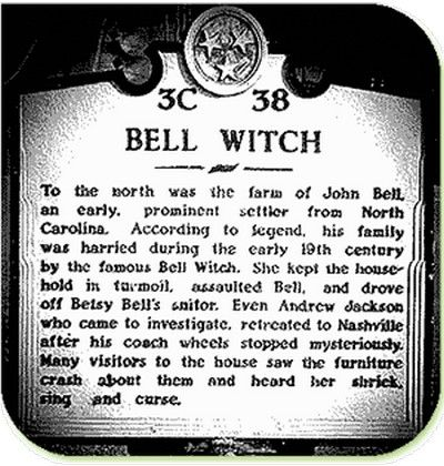 the bell witch - adams, tennessee