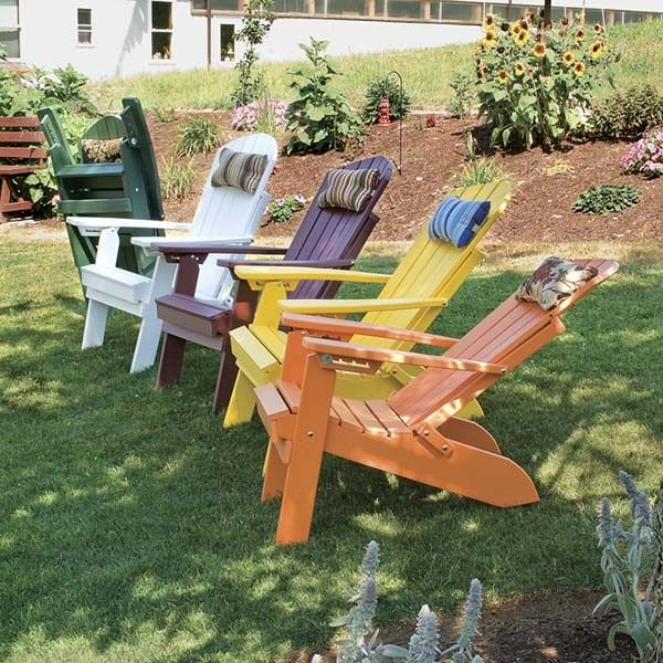 a furniture co folding reclining polywood furniture adirondack chair - Polywood Adirondack Chairs