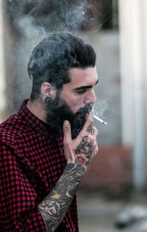 Septum Piercing Guy Beard Google Search Beard Tattoo