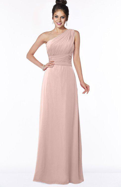 7e16540830 ColsBM Adalyn Dusty Rose Mature Sheath Sleeveless Half Backless Chiffon Ruching  Bridesmaid Dresses
