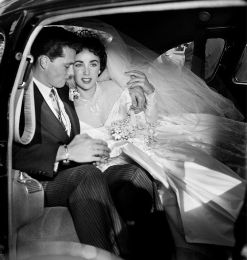 Conrad Hilton Jr. and Elizabeth Taylor  The marriage did not last, they were divorced after nine months !