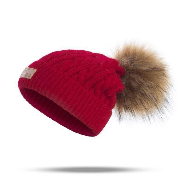 40554509d Molixinyu 2018 Pom Children Winter Hat For Girls Hat Knitted Beanies ...