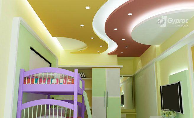 Kids room ceiling designs false ceiling design gallery for Children bedroom designs india