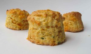 Felicity's perfect cheese scones.  Replace milk with soy milk, egg with soy milk, butter with vegan margarine and cheese with Sainsbury's Caramelised Onion vegan cheese. Add 1.5 tbsps nutritional yeast and melt teaspoon marmite in water / milk mixture.