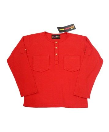 Red Cotton Basic T-Shirt With Patch Pockets #ohnineone #kids
