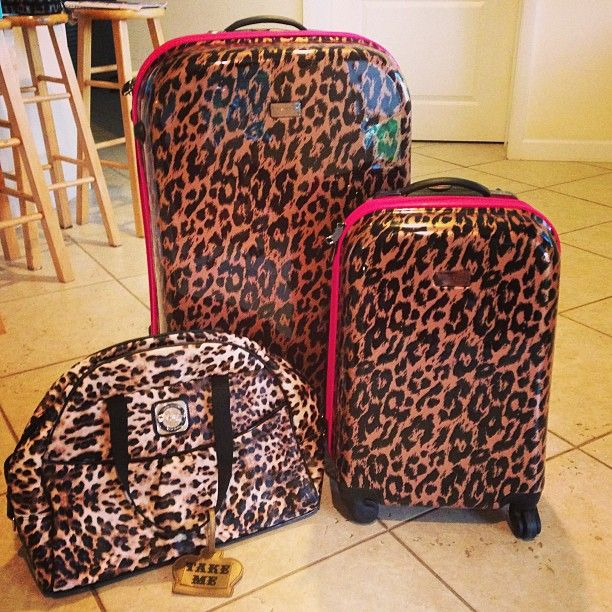 Betsey Johnson Luggage 3 Clothes Purses Shoes Oh My Pinterest And Bags