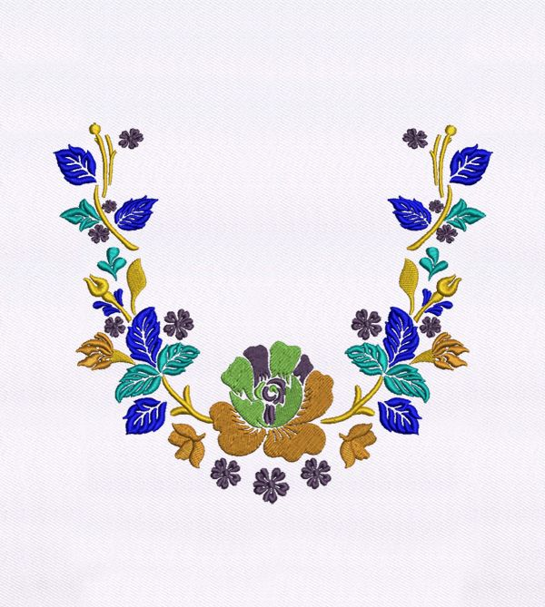BEAUTIFUL COLORFUL FLOWERS QUILTING EMBROIDERY DESIGN