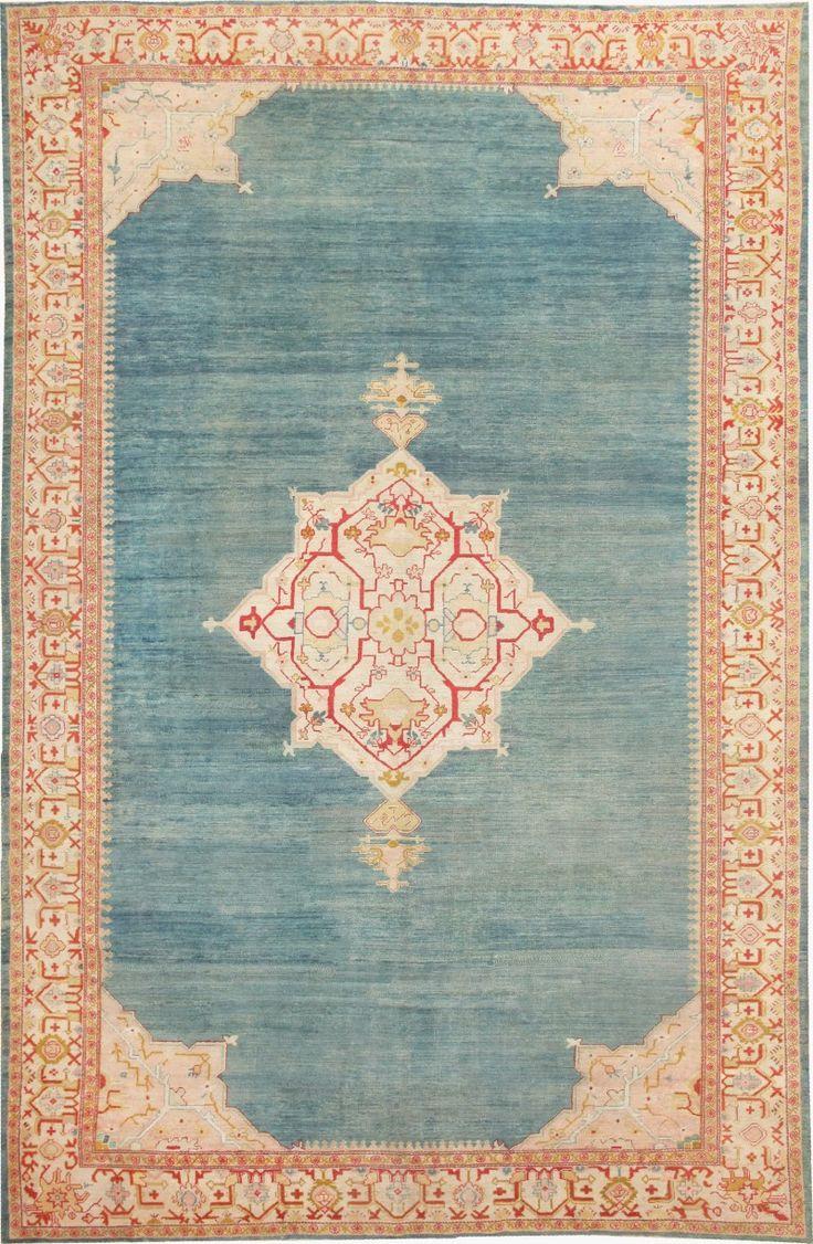Antique Turkish Oushak Rug 47046 Nazmiyal - By Nazmiyal http://nazmiyalantiquerugs.com/antique-rugs/antique-oushak-rugs/antique-turkish-oushak-rug-47046/