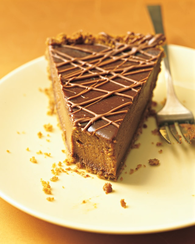 Week 9, part two: Triple-Chocolate Pumpkin Pie  Rating: 9 of 10  Served at Thanksgiving dinner in Cape Verde. I loved this crust.
