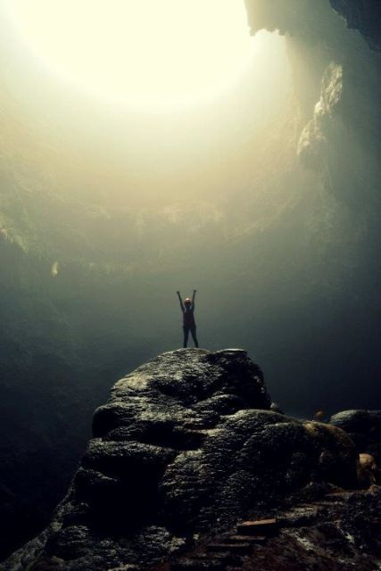 Ray of light from heaven - Jomblang Cave, Gunung Kidul