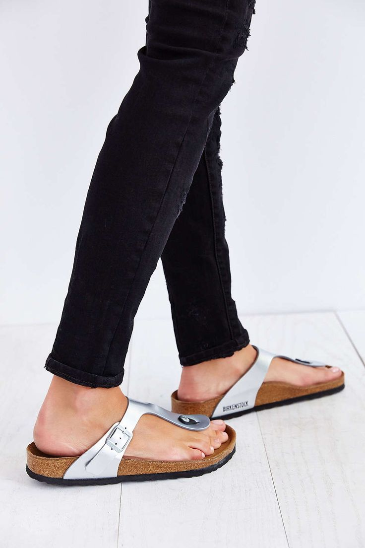 birkenstock metallic gizeh sandals