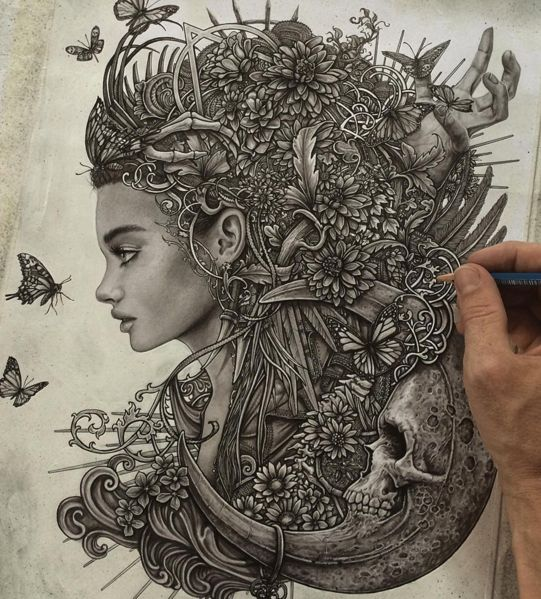 Amazing Surreal Drawings by British artist Christopher Lovell