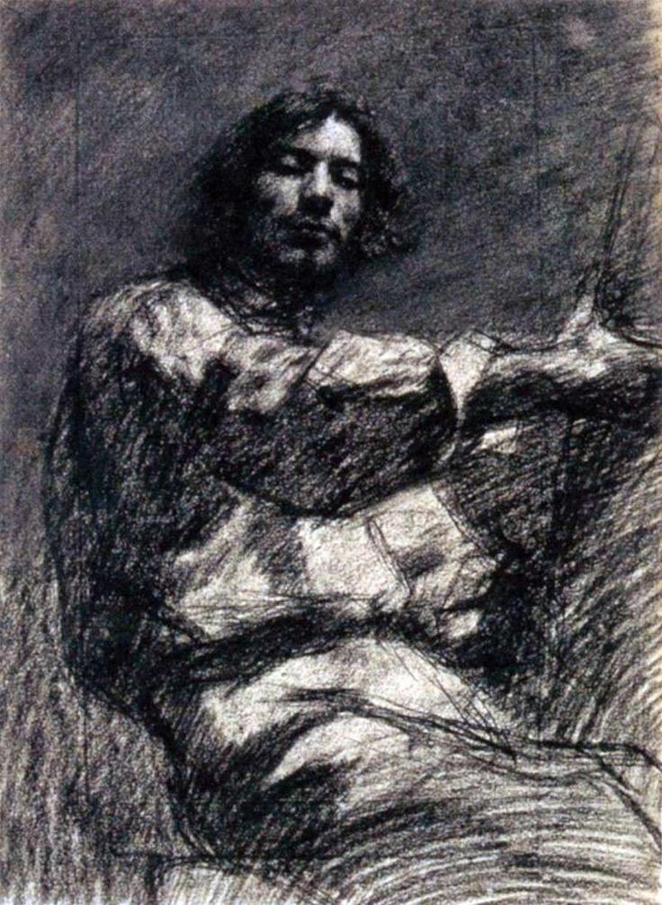 Gustave Courbet (1819-1877). Homme assis, étude