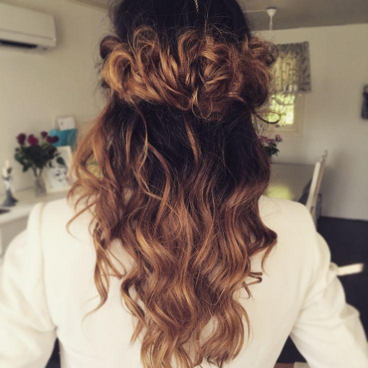 Half #updo #headband #hårband #curls