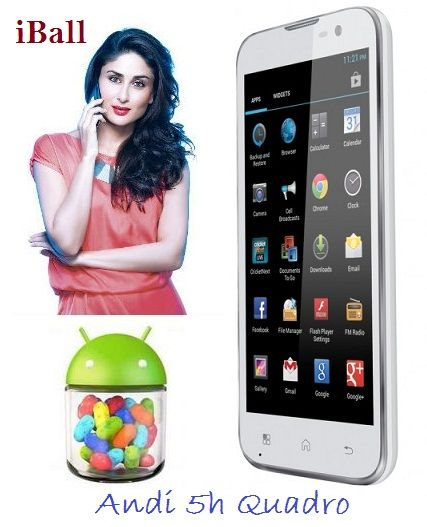 iBall launches Andi 5h Quadro 3G dual SIM Smartphone for Rs 11,999