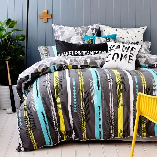 Ruckus Flynn - Bedroom Quilt Covers & Coverlets - Adairs Kids online - #wakeupandbeawesome pillowcase