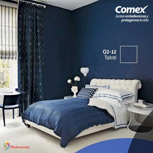 Tahití el #color que convertirá tu dormitorio en el lugar ideal para descansar. #Decoración #Comex