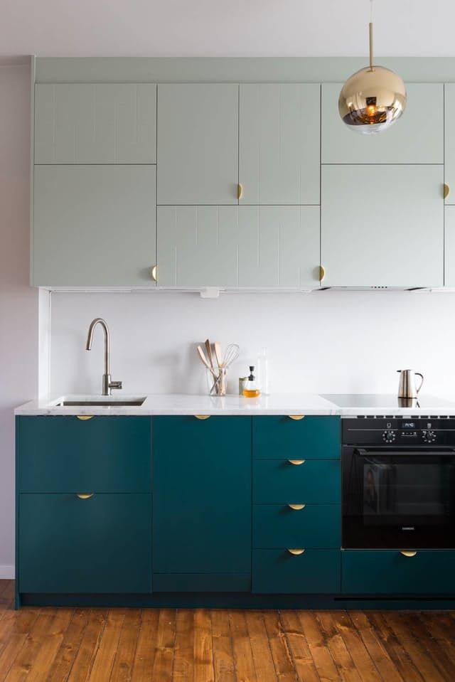 There's a reason IKEA cabinets are such a popular choice for new kitchens: they're incredibly affordable. The cabinets are also quite versatile, lending themselves to all kinds of configurations and finishes, some of which may not look anything like anything you've seen in their catalog. Here are nine of our favorite IKEA kitchens, in envelope-pushing styles and configurations that might have you reconsidering your next kitchen remodel.