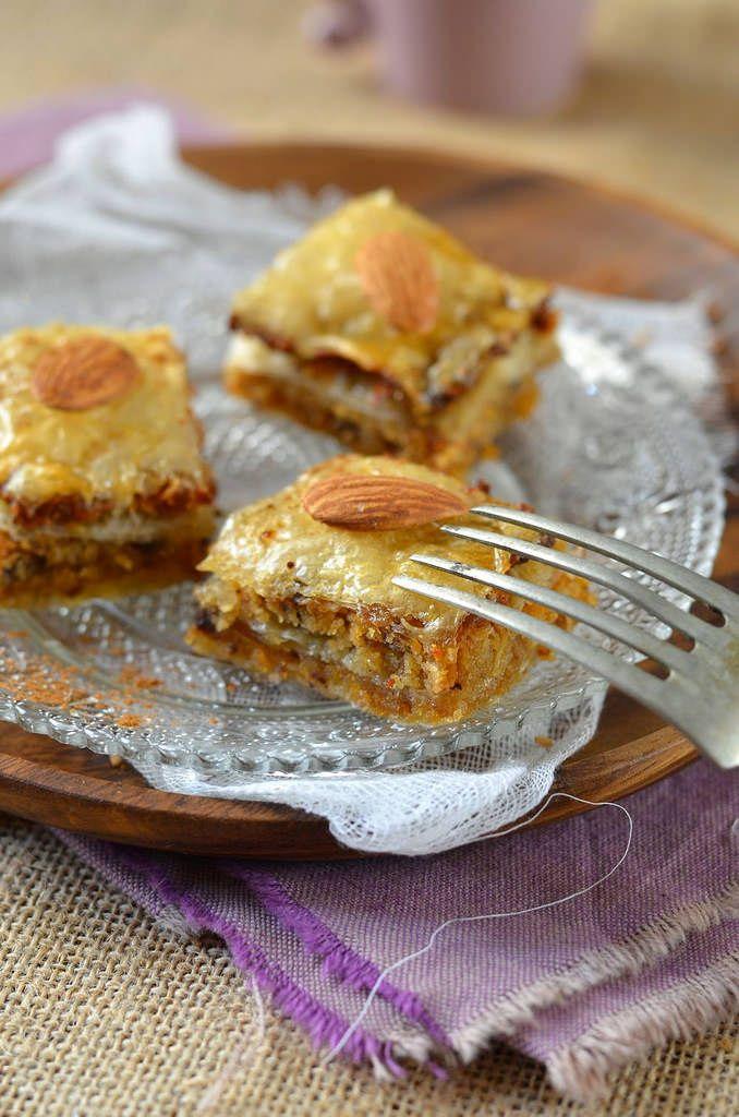 Baklava aux amandes et chocolat - Tangerine Zest