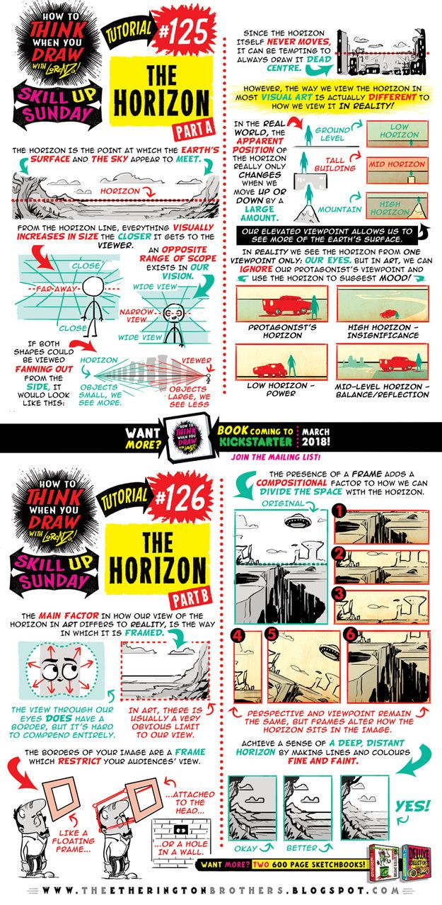 It'sSkillUpSunday!Let's kick things off with aBRAND NEW TUTORIAL: How toTHINKWhen You DrawTHE HORIZON! And join us onOUR TWITTERTODAYfor#...