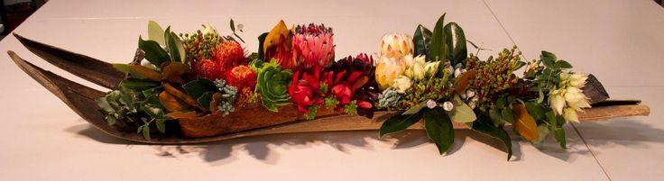 Protea boat arrangement