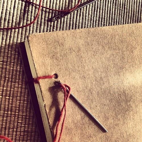 Coptic stitch- sketchbook by CARma