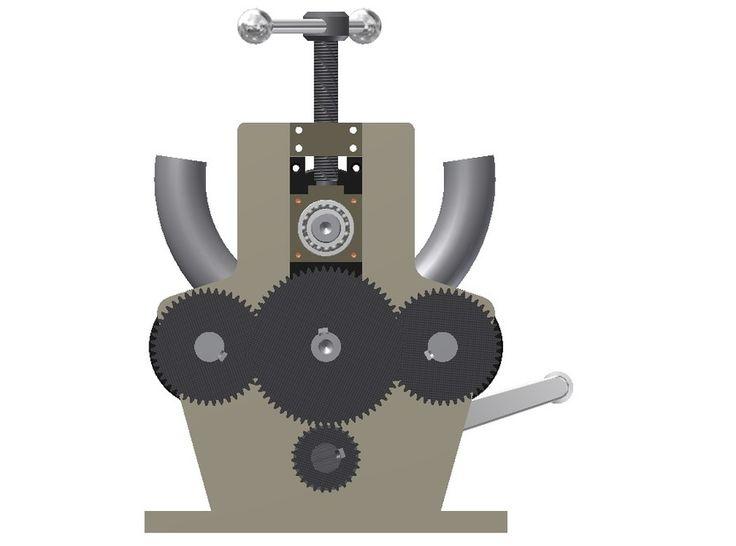 Buizenwals --- Roll Bender - STL,STEP / IGES,Autodesk Inventor - 3D CAD model…