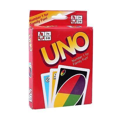 Baru kedatangan Standar Menyenangkan 108 Bermain Kartu UNO Permainan Untuk Perjalanan Keluarga Teman Instruksi