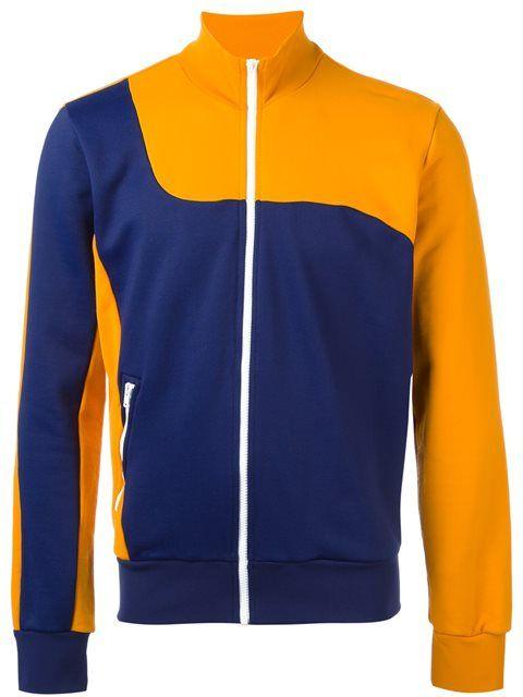 MAISON MARGIELA Bi-Colour Zipped Sweatshirt. #maisonmargiela #cloth #sweatshirt