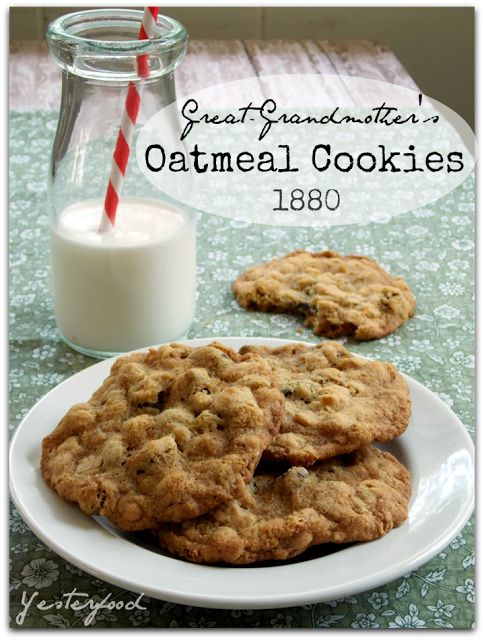 My recent favorite books: Guest Post - Great-Grandmother's Oatmeal Cookies