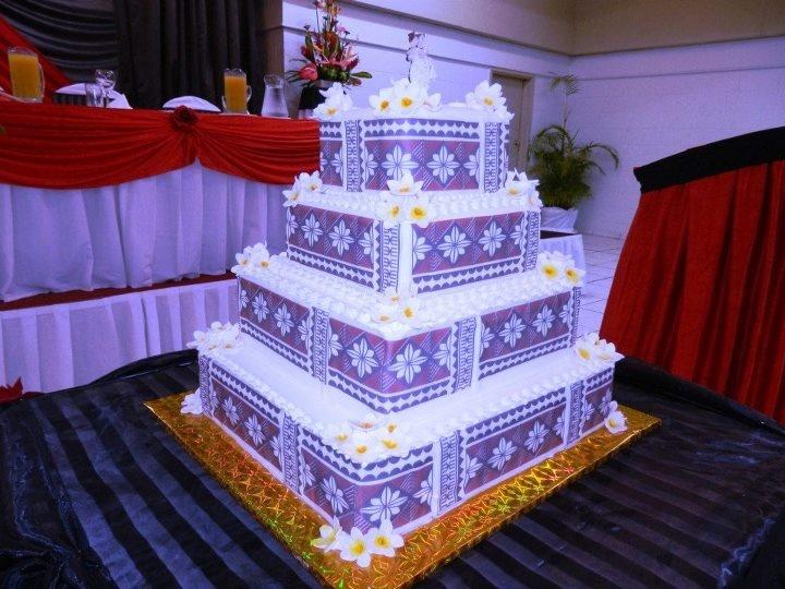 Fijian wedding cake