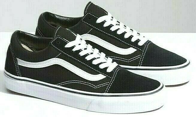 Details About New Vans Old Skool Classic Canvas Suede Black Or Blue White Skate Shoes Sneakers Vans Old Skool Suede Skate Shoes Sneakers
