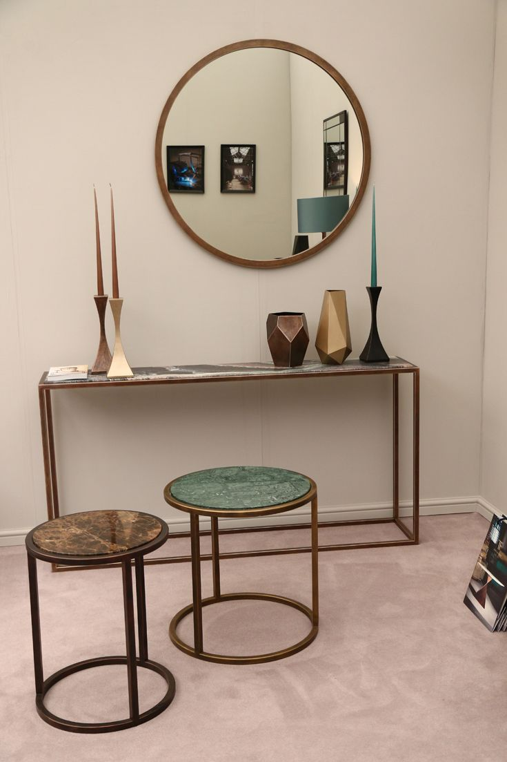 Avenues collection at #decorex 2015, featuring #marble #console_tables & #side_tables