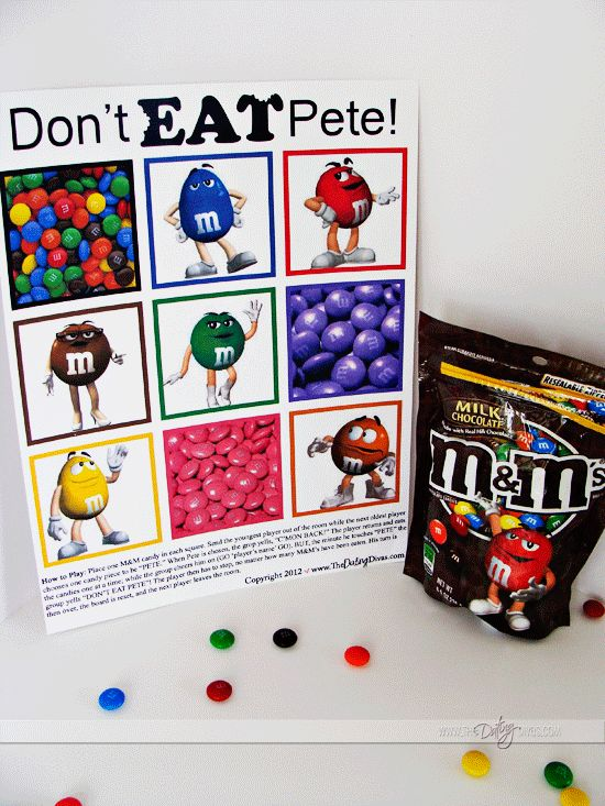"FREE printable game board ""Don't Eat Pete"" www.TheDatingDivas.com #free #forkids"