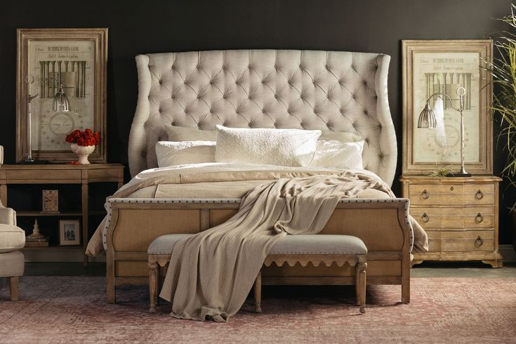 Best 72 5 Traditional Button Tufted Bed In Gray Upholstered 640 x 480