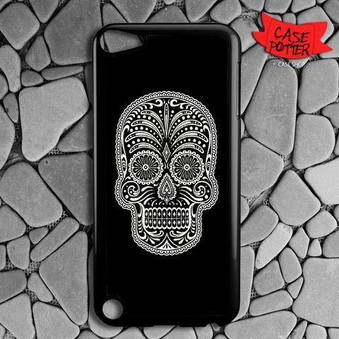 Black Cream Sugar Skull iPod 5 Black Case