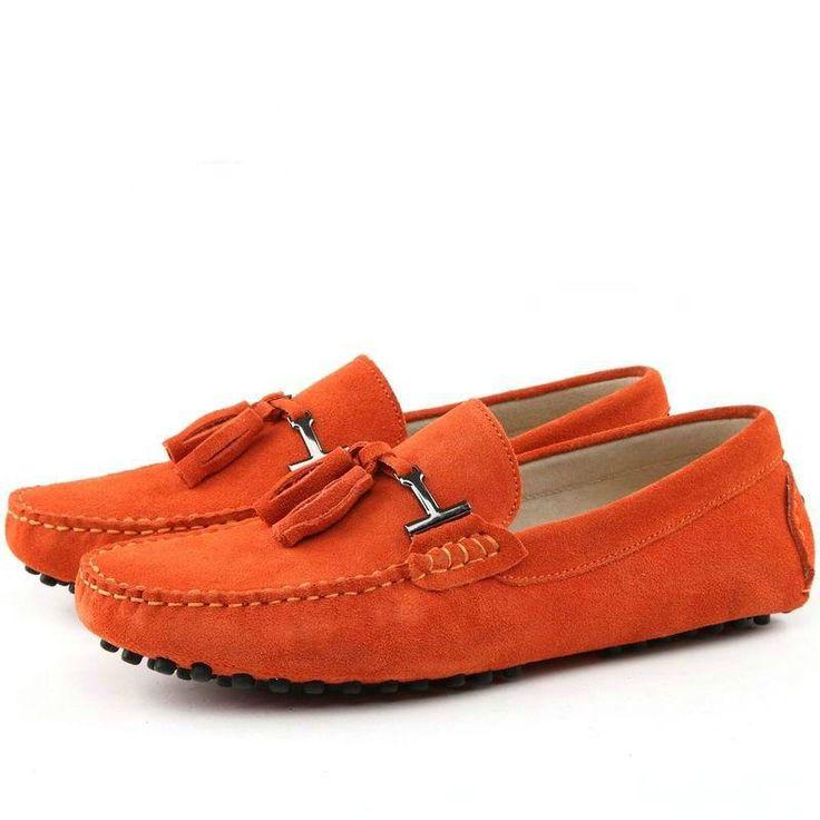 Classics en cuir véritable pour hommes Mocassins Tassel Pantoufles Hommes Smoking Chaussures Marque Designer Flats Men Plus Size 3YATqTPD5