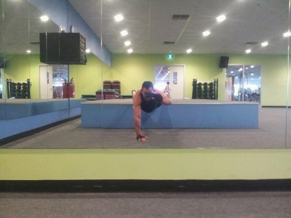 @pete_hayward: Day 5 - Yes we did it #CrackofArse kicked to da curb @AmeliaBurton Bi's + Thighs with extra pushups coach