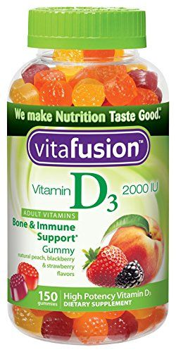 Vitafusion Vitamin D3 Gummy Vitamins, Assorted Flavors, 150 Count, seasonal depression, daylight savings time