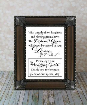 Please Sign Our Wedding Quilt Guest Book by OurHobbyToYourHome, $10.00