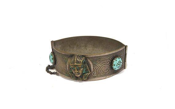 Brass bracelet. Egyptian jewelry. Boho bangle. Brass Bangle.