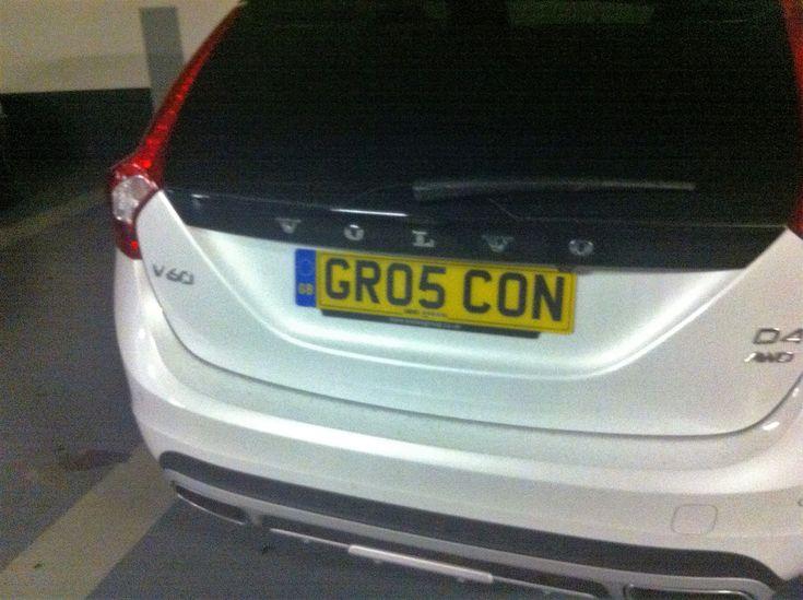 Plaque d'immatriculation GRO5 CON