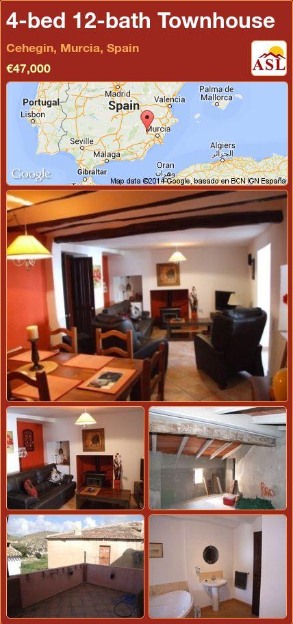 4-bed 12-bath Townhouse in Cehegin, Murcia, Spain ►€47,000 #PropertyForSaleInSpain